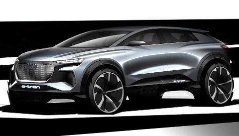 Lavere og bredere: Her er det ingen tvil om at Q4 e-tron er mer coupé-inspirert.