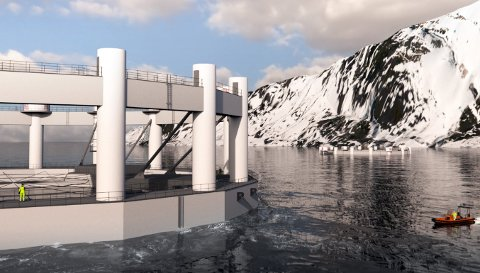 HAVMERDER: Arctic Offshore Farming er det nye konseptet for lakseoppdrett til havs som Norway Royal Salmon har utviklet og søkt om å få sette ut flere steder i nord.