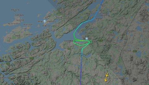 KOM IKKE NED: Wizz AIr-flyet forlot Tromsø klokka ett søndag. Men endte opp i Oslo, ikke sin egentlige destinasjon.