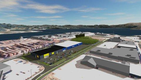 NYTT I BYBILDET: Bråholmen Handelspark AS står bak byggeprosjektet på Østre byområde. Bygninger og tilhørende fasiliteter skal etter planen stå klart 1. juni 2022.