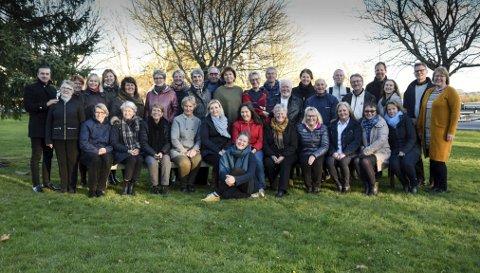 Inspirert: Tjølling sangforening har hatt inspirasjonsseminar før sin julekonsert.foto: Privat