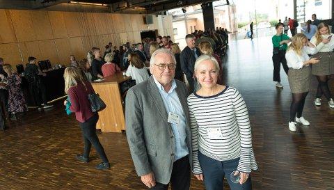 BEHOV: Studieansvarlig for Music Business ved Høgskolen i Innlandet, Rune Johannessen, og Sony Norge-direktør, Lena Midtveit, tror det er en framtid for mange ungdommer som velger å utdanne seg til jobber i musikkbransjen.