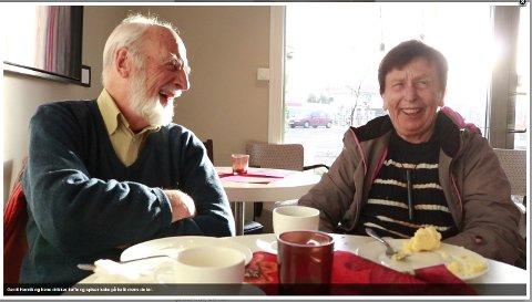 Gerdt Henrik Vedeler synes det er hyggelig å besøke, og Irene setter pris på besøk.