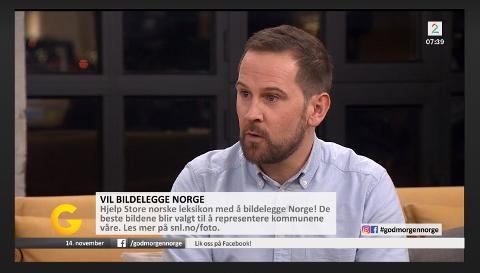 ØNSKER BILDER: Redaktør i Store norske leksikon, Stig Arild Pettersen, oppfordrer folk til å sende inn sine bilder av Færder til leksikonet.