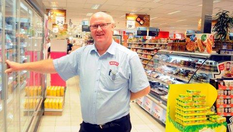 Anders Hegna selger mye «svenskevarer» på Moheim.