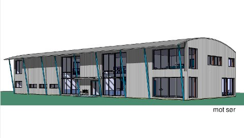 Slik kan undervisningsbygget til Polarsirkelen folkehøgskole bli seende ut. Illustrasjon: Arkitekt Lisbet Fyri Ingebrigtsen