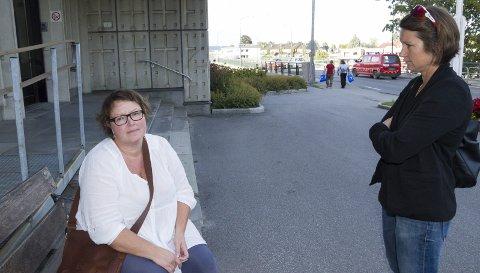 Linda Zetterdahl og Anja Flekstad er skuffet over at ikke Ringerike kommune involverte de som beboere tidligere i prosessen.