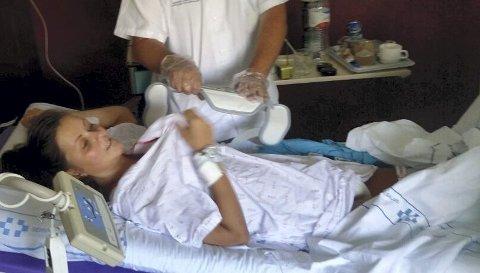 Linn Therese lå seks uker på sykehus på Tenerife.