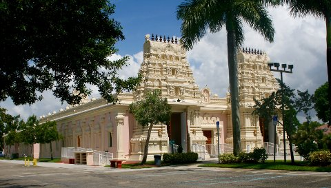 FORBILDET: Shiva Vishnu templet i Sør-Florida.