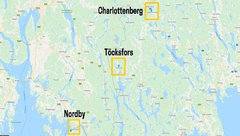 De tre største kjøpesentrene langs svenskegrensa.