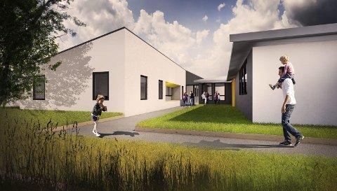 Ny fløy: Den nye fløyen på Vestgård skal gi rom for flere lærerarbeidsplasser og to nye klasserom.