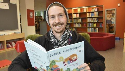 Nybakt forfatter: Paul Wennersberg-Løvholen håper han får tatt inn barneboka si i bibliotekene.