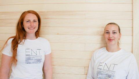 AMBISIØSE: Ingrid Barsnes (32) og Linn Adine (25) skal skape sin egen arbeidsplass.