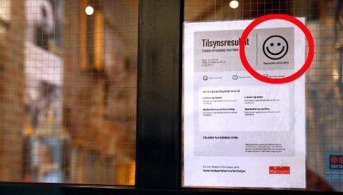 Mattilsynet innfører nå smilefjestilsyn på restauranter i Telemark og resten av landet.