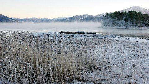Langs kysten i Sør-Norge vil temperaturen holde seg rundt 10 minusgrader, noe som er status stort sett langs hele kysten opp mot Trøndelag og Nord-Norge, melder meteorologene.  Foto: Jan Arve Ødegård