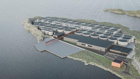 Anlegget i Hustadvika slik det vil se ut fullt utbygd.