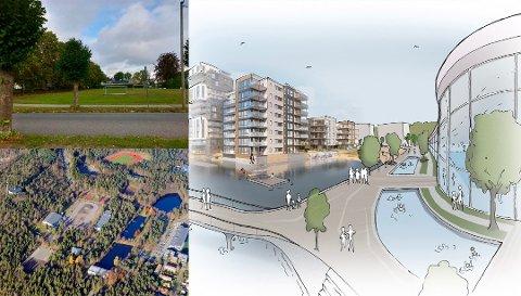 TRE ALTERNATIVER: Nord for dagens svømmehall, på Messeområdet eller på Kaldnes - det er de tre alternativene for ny svømmehall/badeland i Tønsberg.