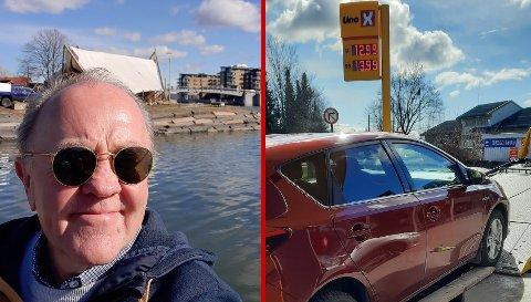 MÅTTE BERGES: Pål Yngve Kristiansens besøk på bensinstasjonen i Tønsberg ble en kjedelig affære.