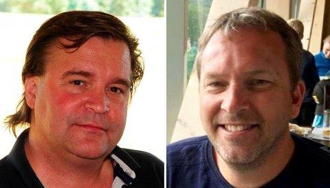 STORTSPRIK:Marius Egeberg (t.v.) og Kjetil Sukkestad tilhører samme parti, men er i hver sin ende av inntektslista.
