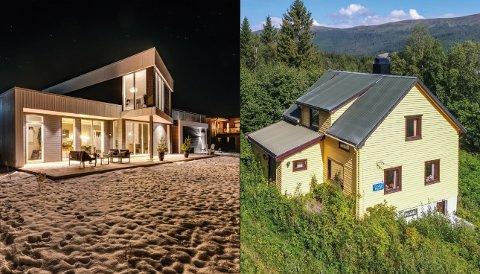 Funkisboligen til venstre kan sette prisrekord, bolighuset til høyre ble nettopp solgt for 500.000 kroner.