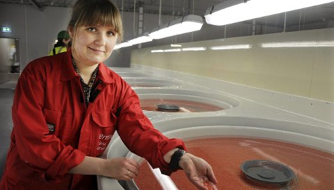 Marit Holmvaag Hansen (32) trekkes frem som talent innen landbasert akvakultur. Foto: Øyvind A. Olsen