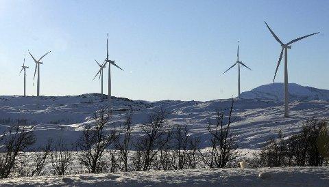 Ikke lenger den eneste: Vindmølleparken på Nygårdsfjellet i Narvik har hittil vært den eneste parken i fylket. Nå kommer snart to nye anlegg. Foto: Øyvind A. Olsen