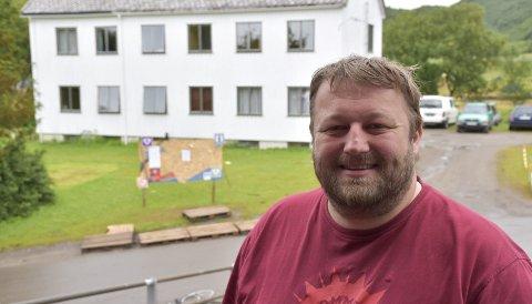 Mye å gjøre: Driftssjef ved landsleiren, Øyvind Pedersen har mye å gjøre med å pakke ned leiren i uken som kommer. 8alle foto: maiken johnsen88
