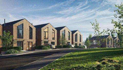 UTSOLGT: Alle de 19 boligene er solgt i prosjektet på Måsheia på Tverlandet.