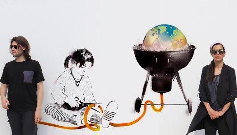 Rettferdighet: Klimarettferdighet er navnet på dette arbeidet, signert Ela Buria og Johan Reisang. Det er blitt til i byen der de har bodd de siste årene; Berlin.