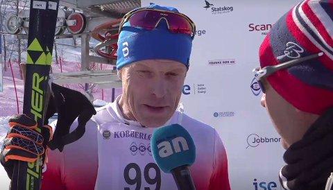 Bjørn Dæhlie var mildt sagt fornøyd etter å ha gått i mål i Sulis.
