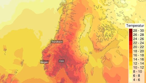 Det varme og fine sommerværet fortsetter også denne uka.