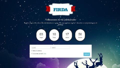 1.desember startar adventstida i Firda med julekalendar for lesarane.