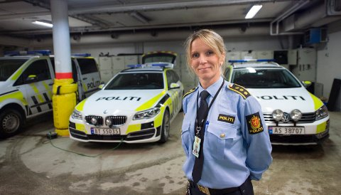 NY SJEF: Beatrice Bøe (45) er ny stasjonssjef ved Fredrikstad Politistasjon.