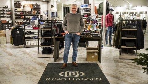 Rino Hansen: For Rino Hansen har klesbutikken blitt en livsstil. Han er stolt over å være sin egen herre uten tilknytning til noen kleskjede.
