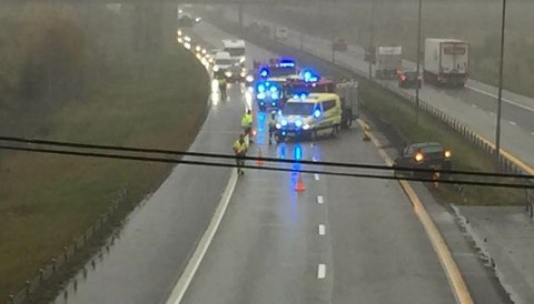Trafikkulykke på E6 i Råde torsdag ettermiddag
