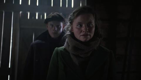 """FILMTRAILER: Filmtraileren til """"Kampen om Narvik"""" slippes på kino fra 25. desember. Her er et bilde fra traileren av en av hovedrolleinnehaverne, Kristine Cornelie Margrethe Hartgren."""