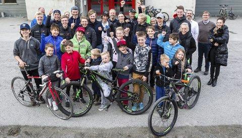 MORO PÅ TO HJUL: De som allerede sykler for Glåmdal har gode dager i klubben.