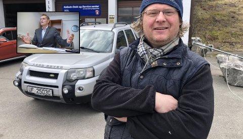 BYTTER: Etter ti år som elbileier, bytter Petter Bruflat fra Oslo tilbake til dieselbil. Han mener selv han kommer til å spare store summer penger på det, noe MDG-politiker og tidligere bilforhandler Henrik Mohn tviler veldig på.