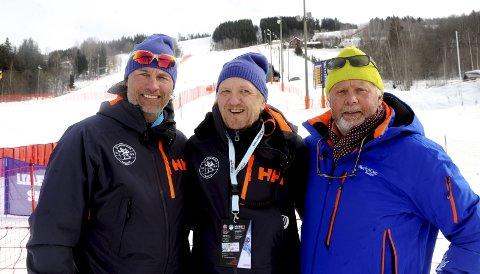 Ole Kristian Kirkerud (t.v.), Bjørn Hettervik og Stein B. Olsen er klare for fem dager med alpin-NM i Hafjell. Begge foto: Hans Bjørner Doseth