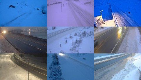 Det er stor variasjon i føreforholdene på vegene i Gudbrandsdalen torsdag ettermiddag. Kjør forsiktig!