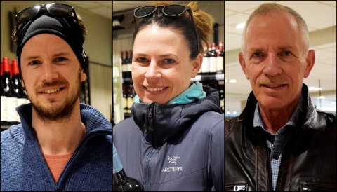 Erik, Hanne og Gunnar var tre av de 1.446 kundene som var innom polet ved inngangen til påskeferien.