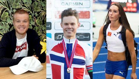 Tobias Foss, Erik Hægstad og Lene Retzius er GDs lokale OL-håp i Tokyo.