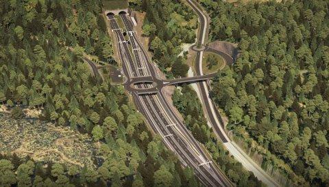 BOMPENGER LIKEVEL: E16 Bjørum-Skaret blir bygget med fire felt, 100-grense og tunnel under Sollihøgda. Nå ser det ut til at veien likevel kan bli delvis finansiert med bompenger.