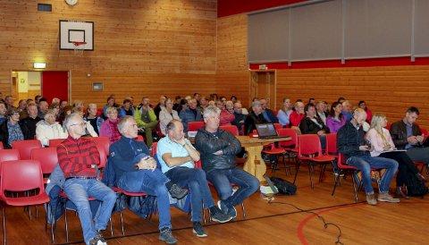 Godt oppmøte: Det var godt oppmøte på folkemøtet i Røldal torsdag kveld.