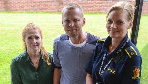 SLT: Torbjørg Krogh Larsen, Stig Hope og Bodil S. Nakkerud er ein del av SLT-gruppa i Ullensvang. SLT står for «Samordning av lokale rus og kriminalitetsførebyggjande tiltak».