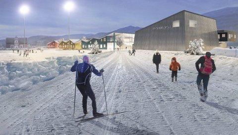 AVVENTER: Byggingen av en ny skole i Båtsfjord er lagt på is etter at Høyre sitt forslag ble vedtatt på kommunestyre onsdag kveld.