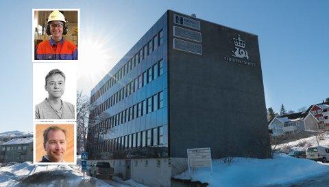 SØKER NY SJEF: Harstad-kontoret har for tiden 16 medarbeidere som har mesteparten av sine arbeidsoppgaver knyttet til den nordlige delen av kontinentalsokkelen. Her er noen av søkerne til lederjobben: Øverst Annbjørg Skjerve, i midten Espen Bornø og nederst i bildet Eirik Darell Holand.