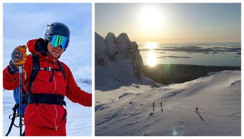 TOPPTUR: Sverre Solheim Eckhoff laget dronefilm fra toppturen han og kameratene gjennomførte forrige fredag.