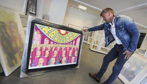 VELDIG BRA: – Dette har vært en veldig bra utstilling, sier Rolf Stavnem, som har planer om å satse videre i Kragerø.