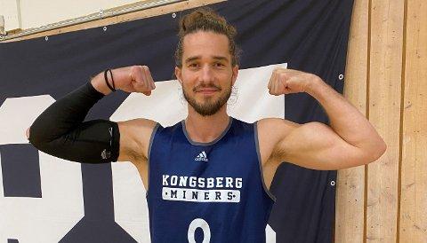 2021: Torgrim Sommerfeldt er klar for Kongsberg Miners. FOTO: KONGSBERG MINERS